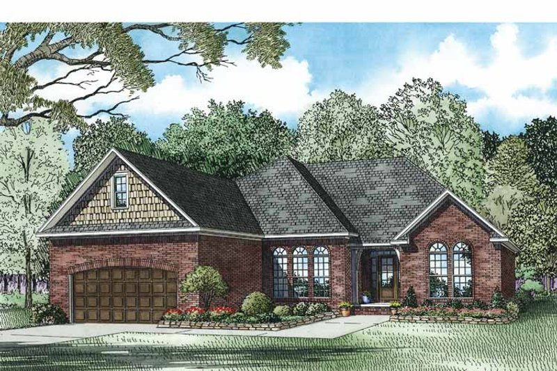 Country Exterior - Front Elevation Plan #17-3353 - Houseplans.com