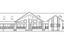 Craftsman Exterior - Rear Elevation Plan #60-647