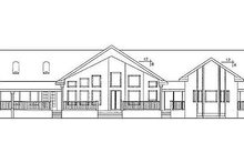 House Design - Craftsman Exterior - Rear Elevation Plan #60-647