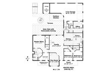 Craftsman Floor Plan - Main Floor Plan Plan #56-701
