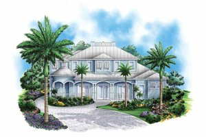 Country Exterior - Front Elevation Plan #1017-130