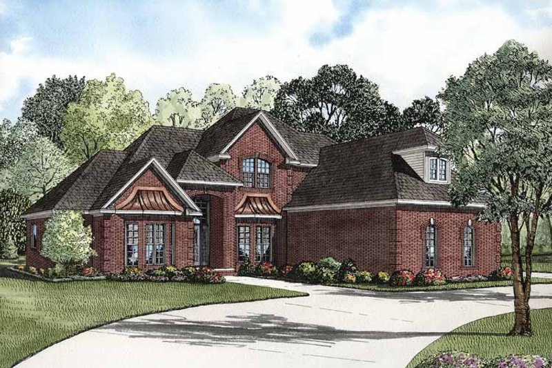 Architectural House Design - Traditional Exterior - Front Elevation Plan #17-2811