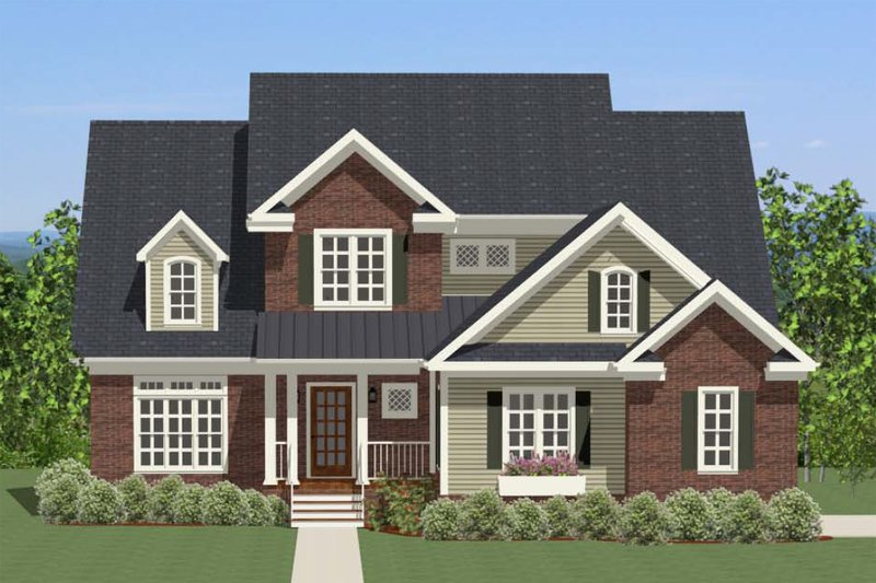 Traditional Exterior - Front Elevation Plan #898-26 - Houseplans.com