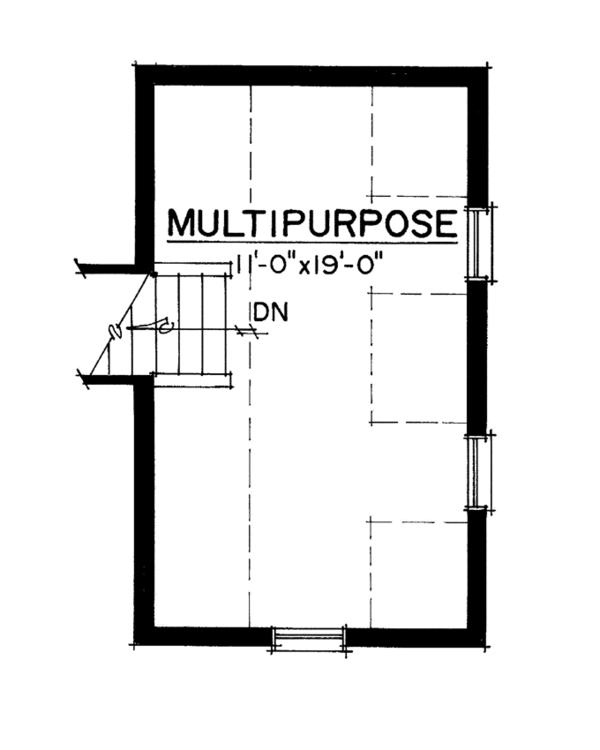 House Design - Colonial Floor Plan - Upper Floor Plan #1016-103