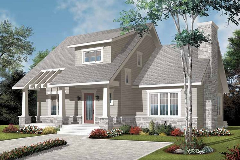 Craftsman Exterior - Front Elevation Plan #23-2371