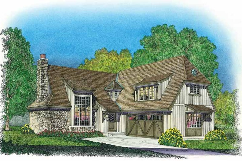 Country Exterior - Front Elevation Plan #1016-80