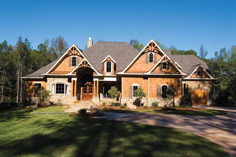 Craftsman Exterior - Front Elevation Plan #54-362 - Houseplans.com