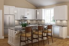 Ranch Interior - Kitchen Plan #18-9545