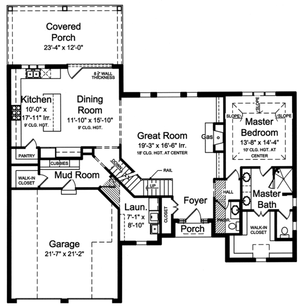 Home Plan - Cottage Floor Plan - Main Floor Plan #46-865