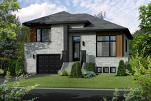 Dream House Plan - Contemporary Exterior - Front Elevation Plan #25-4283