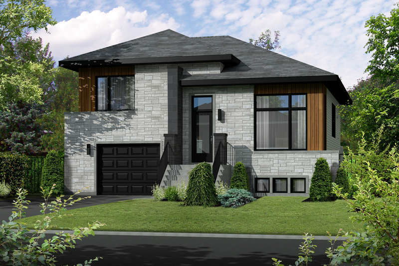 Home Plan - Contemporary Exterior - Front Elevation Plan #25-4283