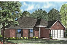 Architectural House Design - Ranch Exterior - Front Elevation Plan #17-3026