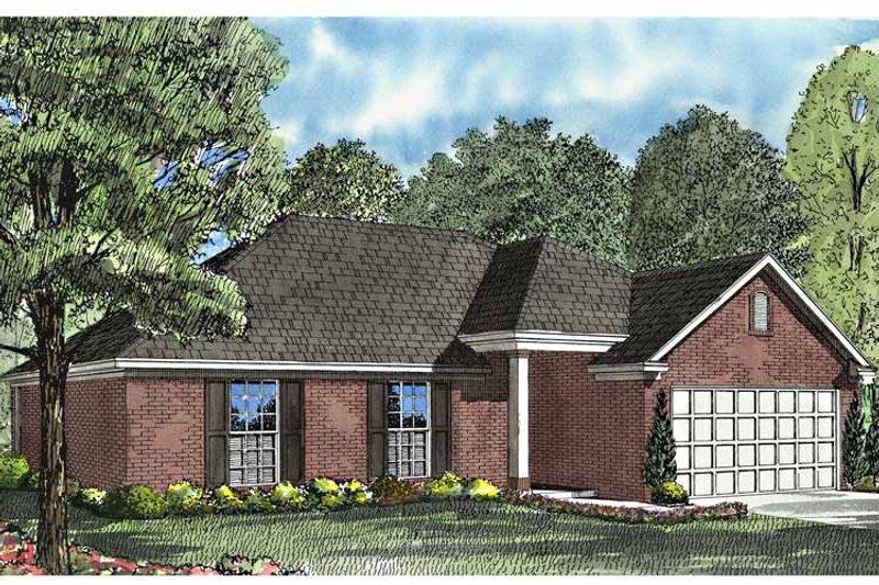 Ranch Exterior - Front Elevation Plan #17-3026 - Houseplans.com
