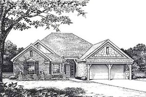 European Exterior - Front Elevation Plan #310-814