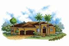 Mediterranean Exterior - Front Elevation Plan #1017-138