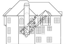 Colonial Exterior - Rear Elevation Plan #927-564