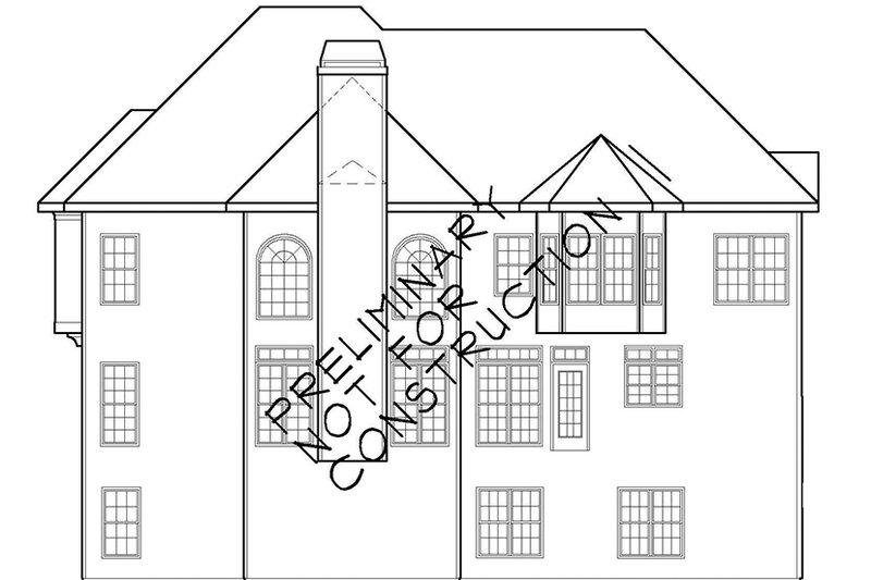Colonial Exterior - Rear Elevation Plan #927-564 - Houseplans.com