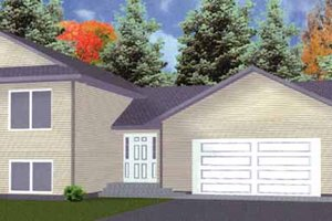 Architectural House Design - Traditional Exterior - Front Elevation Plan #980-2