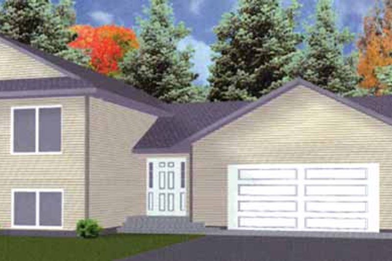 Traditional Exterior - Front Elevation Plan #980-2 - Houseplans.com