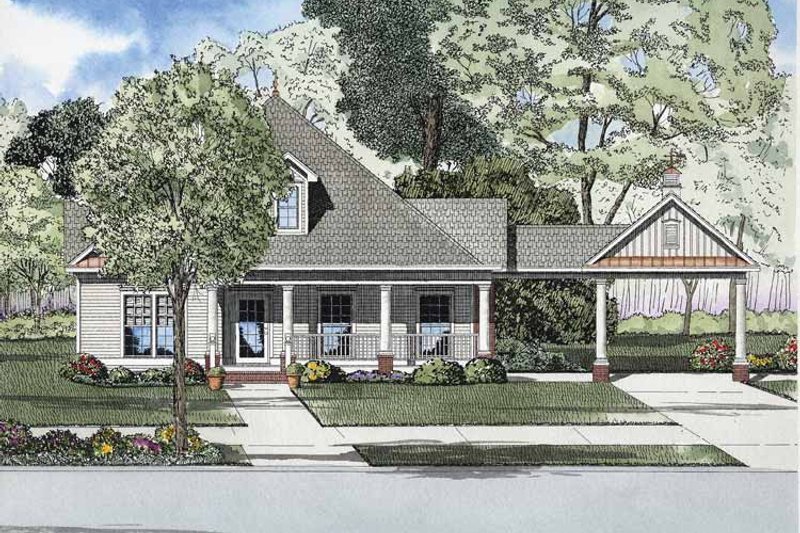 Bungalow Exterior - Front Elevation Plan #17-2865