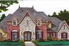 Country Exterior - Front Elevation Plan #310-1249