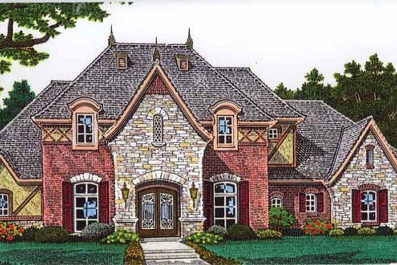 Architectural House Design - Country Exterior - Front Elevation Plan #310-1249