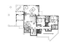 Ranch Floor Plan - Lower Floor Plan Plan #942-32