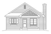 Ranch Style House Plan - 3 Beds 2 Baths 1181 Sq/Ft Plan #22-614 Exterior - Front Elevation