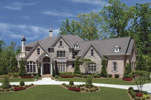 Dream House Plan - Country Exterior - Front Elevation Plan #54-301