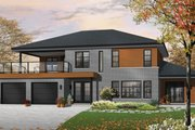 Contemporary Style House Plan - 3 Beds 2 Baths 2729 Sq/Ft Plan #23-2599 Exterior - Front Elevation