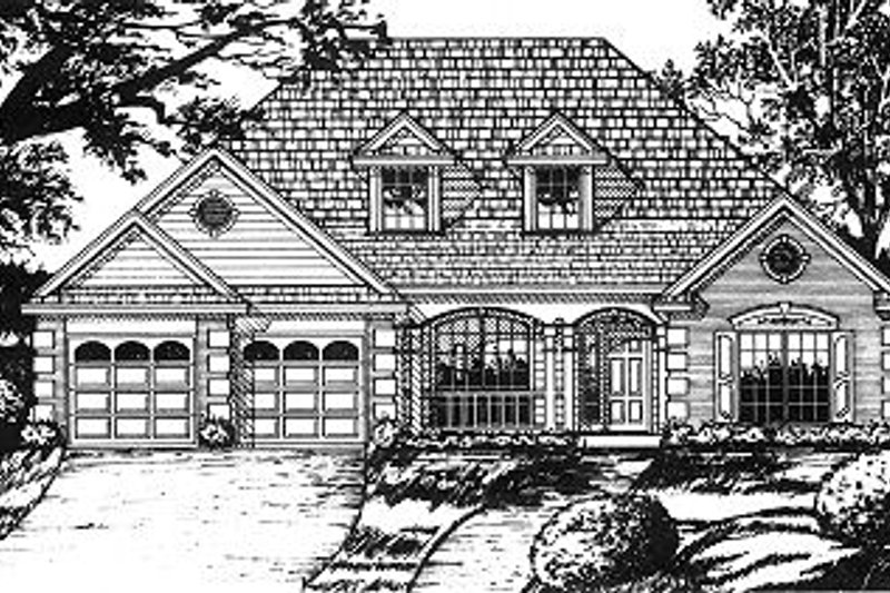 Traditional Exterior - Front Elevation Plan #40-393 - Houseplans.com