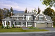 Craftsman Style House Plan - 4 Beds 3.5 Baths 4030 Sq/Ft Plan #132-159 Exterior - Front Elevation