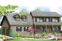Dream House Plan - Colonial Exterior - Front Elevation Plan #124-838