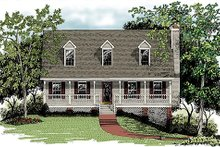 House Design - Country Exterior - Front Elevation Plan #56-132