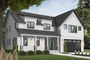 Farmhouse Style House Plan - 5 Beds 4.5 Baths 3497 Sq/Ft Plan #23-2686 Exterior - Front Elevation