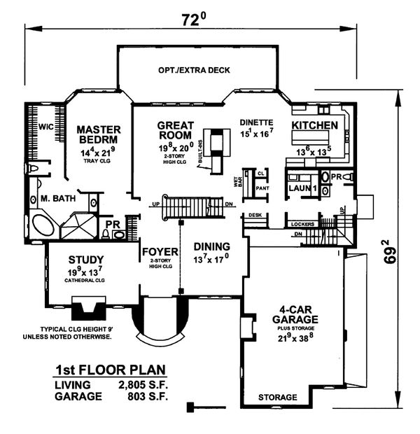 European Floor Plan - Main Floor Plan Plan #20-2301