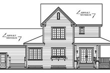 House Plan Design - Country Exterior - Rear Elevation Plan #23-384