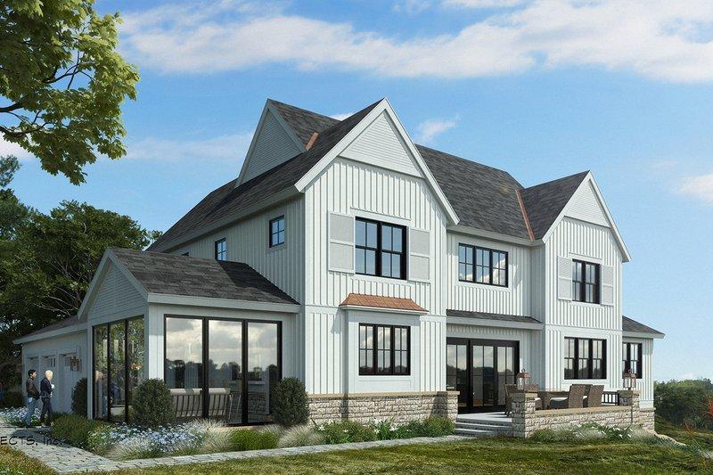 Dream House Plan - Farmhouse Exterior - Front Elevation Plan #928-324