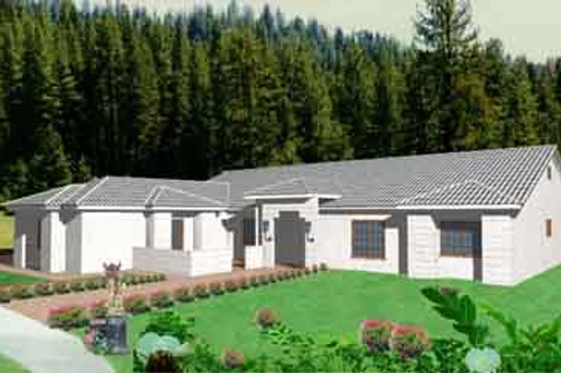 Traditional Style House Plan - 3 Beds 3 Baths 2129 Sq/Ft Plan #1-479 Exterior - Front Elevation