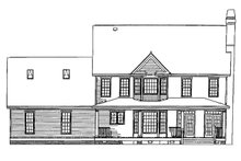 Victorian Exterior - Rear Elevation Plan #929-239