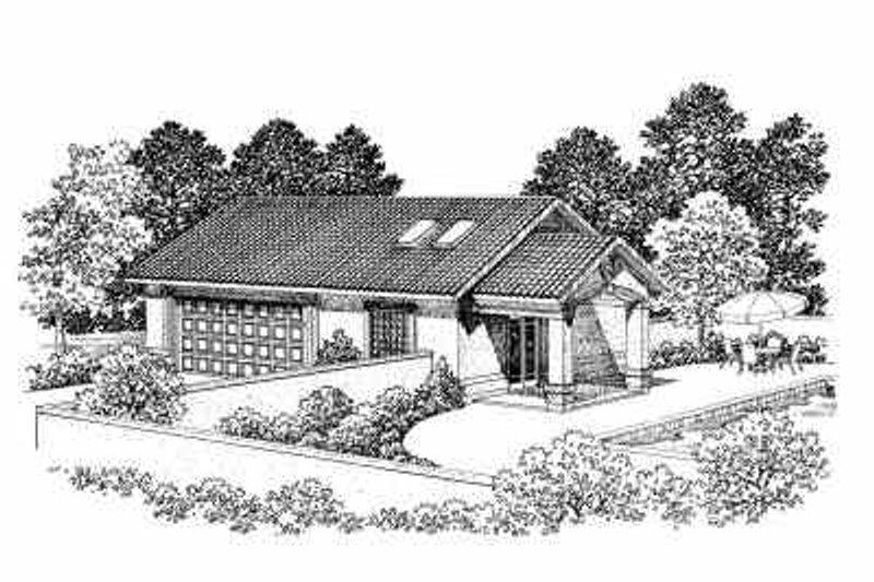 House Blueprint - Mediterranean Exterior - Front Elevation Plan #72-273
