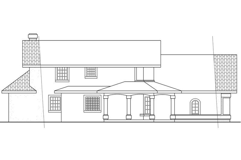 Mediterranean Exterior - Other Elevation Plan #124-435 - Houseplans.com