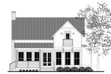 House Plan Design - Farmhouse Exterior - Rear Elevation Plan #430-177