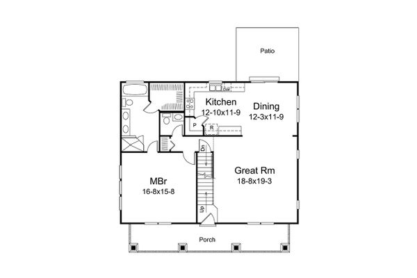 Architectural House Design - Craftsman Floor Plan - Main Floor Plan #57-668