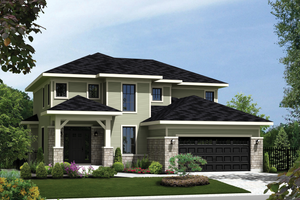 Contemporary Exterior - Front Elevation Plan #25-4343