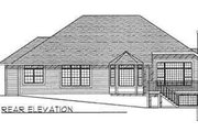 Traditional Style House Plan - 3 Beds 2 Baths 2263 Sq/Ft Plan #70-359 Exterior - Rear Elevation