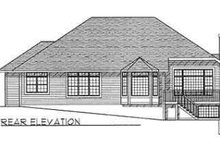 Dream House Plan - Traditional Exterior - Rear Elevation Plan #70-359