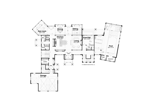 Architectural House Design - Traditional Floor Plan - Main Floor Plan #928-247