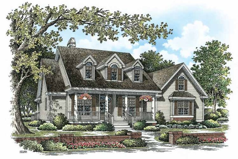 Country Exterior - Front Elevation Plan #929-885 - Houseplans.com
