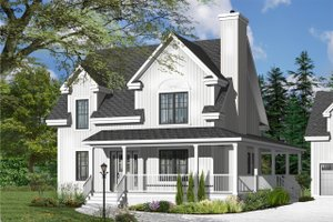 House Plan Design - Country Exterior - Front Elevation Plan #23-2502